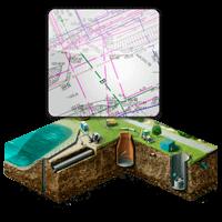 Нанесение на съемку наземных и подземных коммуникаций и их согласование